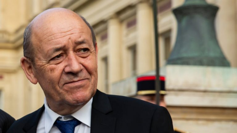 Portrait of the French Foreign Minister Jean-Yves Le Drian